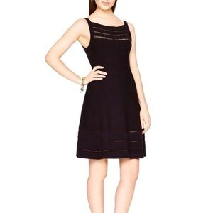 Kate Spade Open Cable Sweater Dress Black